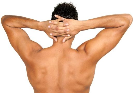 Photo of the back of a male who has had laser hair removal